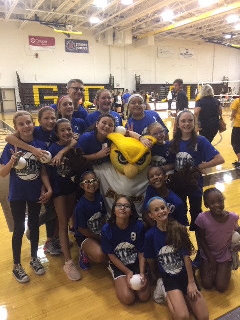 STRS Cadet and JV volleyball teams attended Rowan University's Youth Night